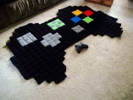 8-Bit Video Game Rugs Offer Soft Pixels Beneath Your Feet | All Geeks | Scoop.it
