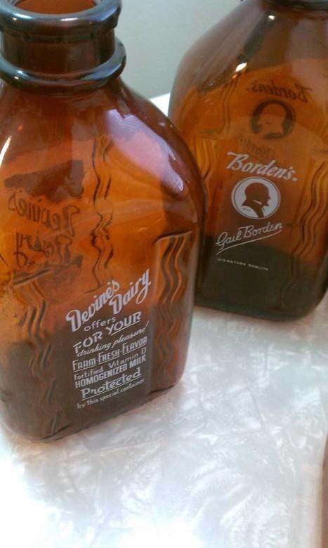 How Now, Old Brown Milk Bottles | Antiques & Vintage Collectibles | Scoop.it