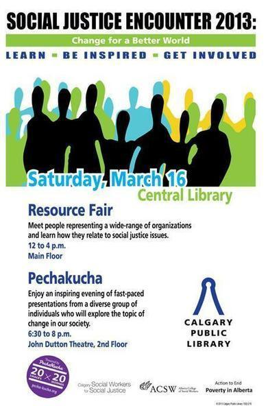 Social Justice Encounter 2013 Presentation @ Calgary Public Library | Libraries YYC | Scoop.it