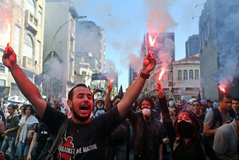 Protests Fill City Streets Across #Brazil - violent repression by police   News in english   Scoop.it