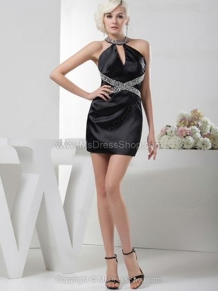 Sheath/Column Jewel Satin Short/Mini Beading Cocktail Dresses | Cocktail dresses online | Scoop.it