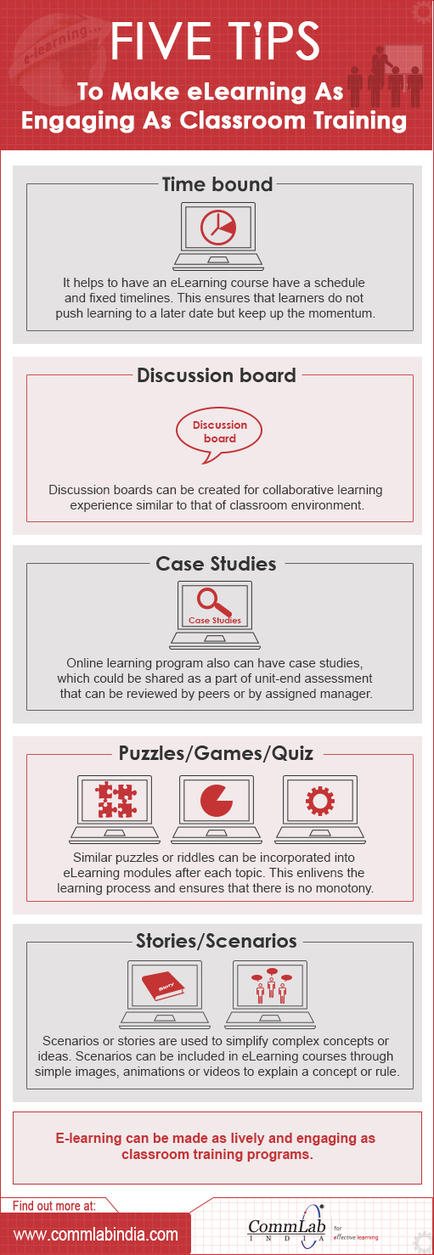 5 Tips to Make E-learning As Engaging As Classroom Training – An Infographic | PTLLS and AET Training | Scoop.it