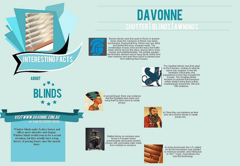 Interesting Facts about Window Blinds | Davonne blinds | shutters | awnings | Scoop.it