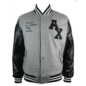 Mens Real Leather Arms Grey Black Varsity College Baseball Jacket | Mens clothing | Scoop.it