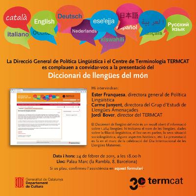 TERMCAT. – Diccionari de llengües del món | Recull diari | Scoop.it