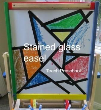 Stained glass easel starter | Teach Preschool | Scoop.it
