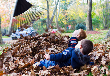 Learn Spanish with Pictures – Playing in Fall Leaves » Spanish Playground | Preschool Spanish | Scoop.it