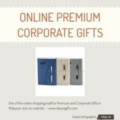 Infographic: Online Premium Corporate Gifts | Infogram | Diary n Gifts | Scoop.it