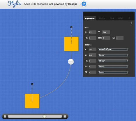 Stylie. A graphical CSS animation tool. | Programmation | Scoop.it