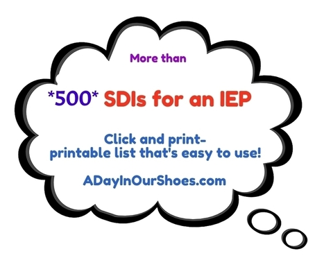 printable list of strategies (SDIs) for your IEP meeting (over 500 and counting!)   Foundations for Teacher Preparation   Scoop.it