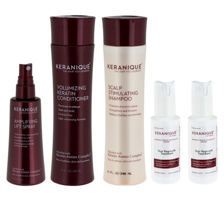 Keranique 5-Piece 60-Day Regrowth and Styling Kit — QVC.com | life & fashion | Scoop.it