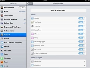 How To Setup Parental Controls (Restrictions) on the iPad — iPad Insight | Edtech PK-12 | Scoop.it