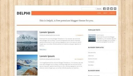 Delphi Blogger Template - Free Blogger Template - Invatac ... | Blogger themes | Scoop.it