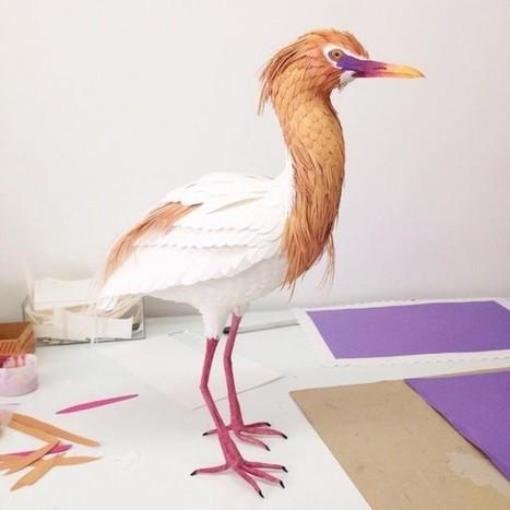 Oiseaux et papillons en papier par Diana Beltran Herrera | Décoration, tendances et bons plans | Scoop.it
