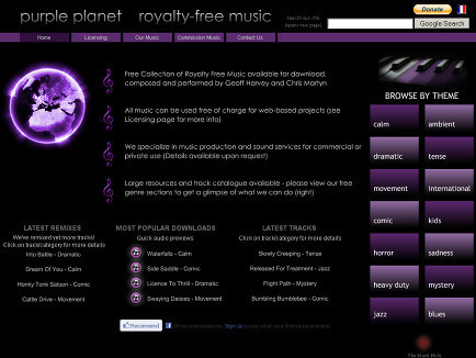 Purple Planet Royalty Free Music | Keeping up . . . technology for educators | Scoop.it