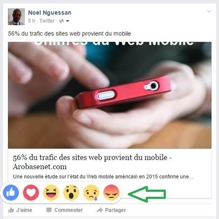 Facebook déploie ses 6 boutons de Réactions en extension du bouton Like - Arobasenet.com | e-tourisme @ otcassis | Scoop.it