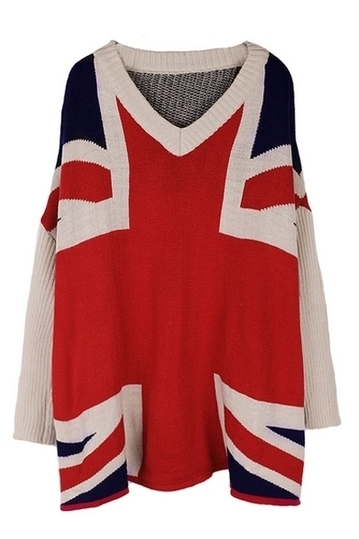 Union Jack Style Loose Sweater - OASAP.com | Street Fashion | Scoop.it