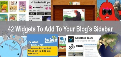 The Top 42 Widgets To Add To Your Blog's Sidebar | IKT och iPad i undervisningen | Scoop.it