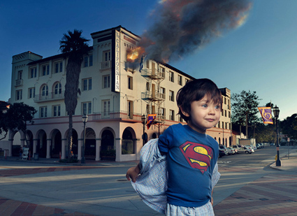 Eddie – Superboy! Photographer makes his autistic child into a superhero and enters his world | art and autism | Scoop.it