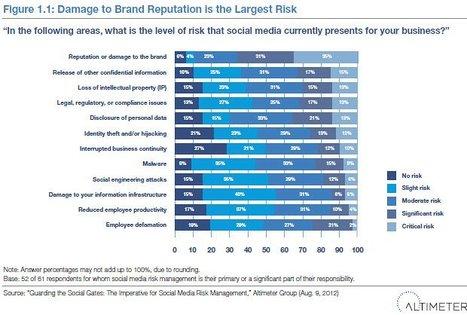 Research: Spotlight on social media risk management : Enterprise Irregulars   Social Media and Business Intelligence   Scoop.it
