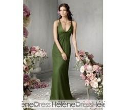 Graceful A-Line V-Neck Sleeveless Floor-Length Bridesmaid Dresses - Bridesmaid Dresses | fashion girl | Scoop.it