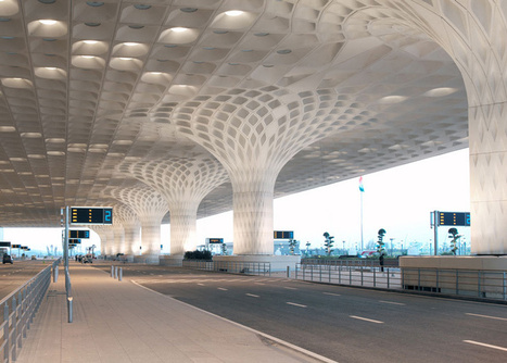 SOM completes Mumbai airport terminal with coffered concrete canopy | Form, Structure & Complex Geometry Innovations | Scoop.it