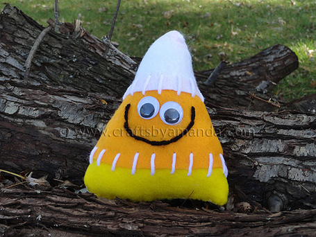 Candy Corn Softie | Crafts by Amanda | Easy Sewing Projects for Kids | Scoop.it