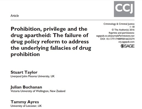 ARTICLE: The failure of drug policy reform to address the underlying fallacies of drug prohibition | Drugs, Society, Human Rights & Justice | Scoop.it