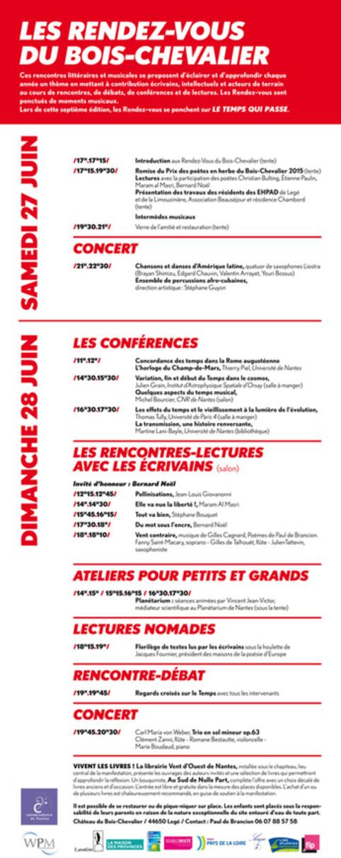 [agenda] Les Rendez-Vous du Bois Chevalier | Poezibao | Scoop.it