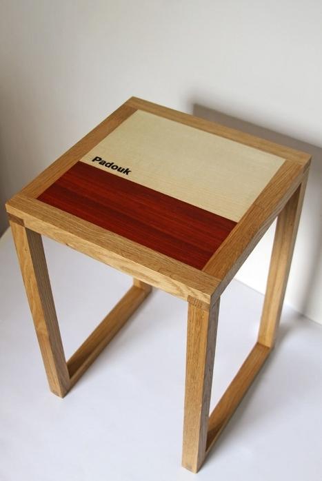 Tabouret Xylothèque par Mathias Astúa | Blog Esprit-Design | L'Etablisienne, un atelier pour créer, fabriquer, rénover, personnaliser... | Scoop.it
