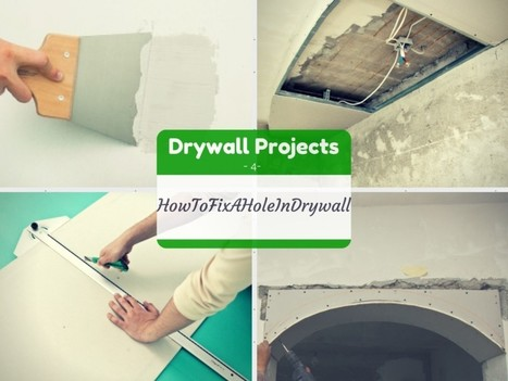 DIY Drywall | How to Fix a Hole in Drywall - Fixing Holes in Drywall | Home Repair | Scoop.it
