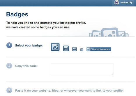 Instagram : des badges pour les sites Web | Veille Etourisme de Lot Tourisme | Scoop.it