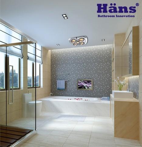 Đèn sưởi nhà tắm Hans 4 bóng âm trần | thammyvien | Scoop.it