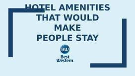 Hotel Amenities That Would Make PeopleStay | Business Meetings Places In North London | Scoop.it
