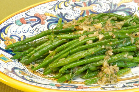 Fagiolini in salsa di acciughe (Green beans in Anchovy Sauce)   Le Marche and Food   Scoop.it
