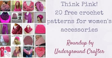 Roundup: Think Pink! 20 Free Crochet Patterns for Women's Accessories | #FlashbackFriday Crochet #LinkBlast #50 | Free Crochet Patterns | Scoop.it