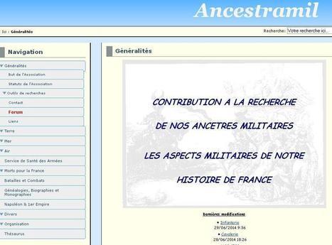 Site du jour (162) : Ancestramil | CGMA Généalogie | Scoop.it