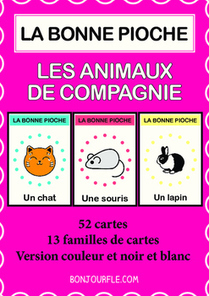 FFL/FSL - Games to learn French - Go Fish - Pets | Ressources visuelles de FLE | Scoop.it