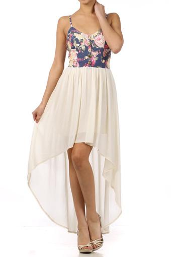 Marilynn- High Low Floral Bustier Dress | Rent The Dress | Scoop.it