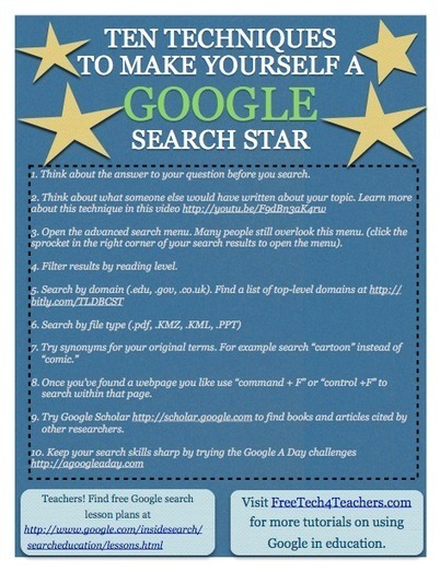 Free Technology for Teachers: 10 Google Search Tips All Students Can Use | Using iPads to Transform Pedagogy | Scoop.it