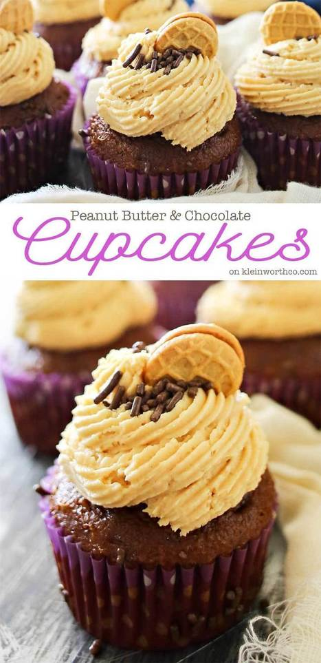 Peanut Butter Chocolate Cupcakes | Passion for Cooking | Scoop.it