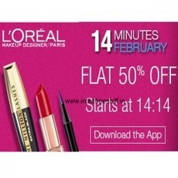 Amazon Deal: Flat 50% Off on L'Oreal Products on 14th Feb 2:14 PM for 14 Minutes Only: Amazon | indiadime | Scoop.it