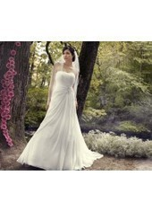 A Line Strapless Court Train Chiffon Ivory Wedding Dress H1ly0006 for $957 | Landybridal 2014 wedding dress | Scoop.it