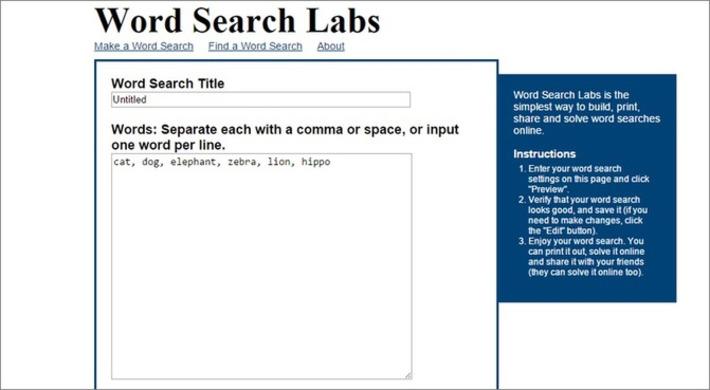 Edu-Curator: Word Search Labs: leuke webtool om gratis woordzoekers te maken | Educatief Internet - Gespot op 't Web | Scoop.it