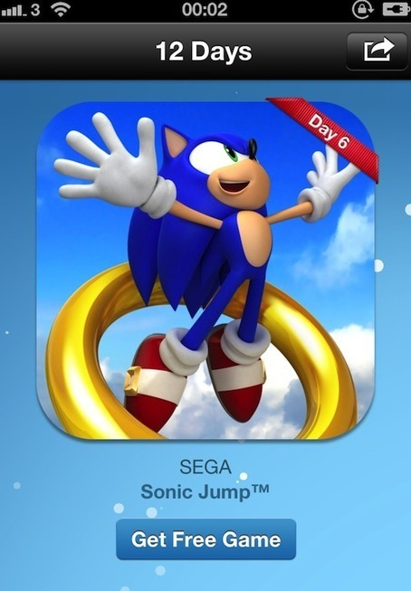 Apple's free 12 Days of Christmas giveaway continues with Sonic Jump from SEGA - Macworld UK | iPhones and iThings | Scoop.it