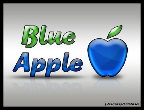 Logo design : Blue Apple | | Photoshop Design | Scoop.it
