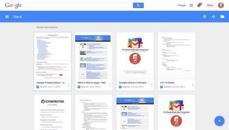 New landing pages for Docs, Sheets and Slides arrive | Google Gooru | Connected Educators | Scoop.it