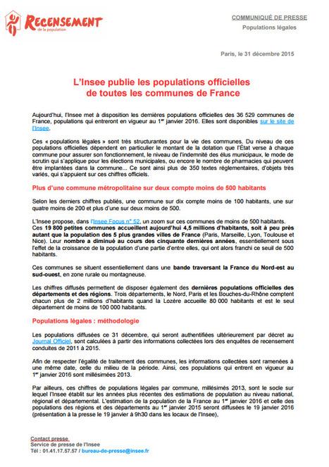 Insee > Les populations légales 2013 sont disponibles | Observer les Pays de la Loire | Scoop.it
