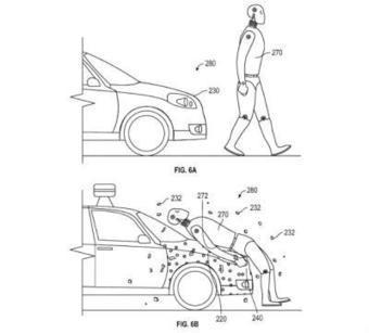 Google patent: Glue would stick pedestrians to self-driving cars after collision | Pedestrian Safety and Accident Prevention in California - CA Pedestrian Accident Attorney | Scoop.it