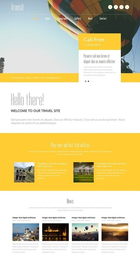 20+ Latest Free HTML5 And CSS3 Website Templates Download | Webtechelp | Scoop.it